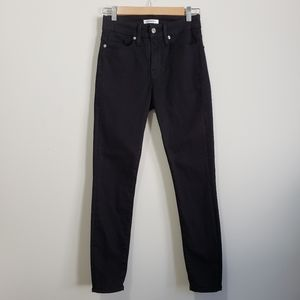 Good American good legs crop black jeans high rise